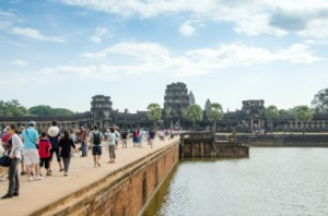 cambodge angkor touristes
